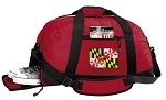 Maryland Duffel Bag with Shoe Pocket Red