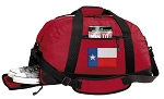 Texas Flag Duffel Bag with Shoe Pocket Red
