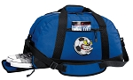 Soccer Fan Duffel Bag with Shoe Pocket Blue