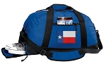 Texas Flag Duffel Bag with Shoe Pocket Blue