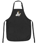 Deluxe Cute Cat Apron Black
