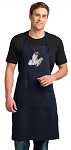 Cute Cats Apron LARGE Navy