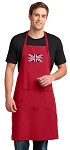 LARGE United Kingdom APRON for MEN or Women RED