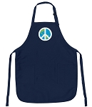 Deluxe World Peace Apron Navy