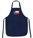 Deluxe Texas Flag Apron Navy