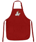 Deluxe Kitten Apron Red