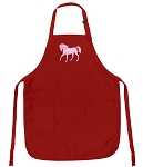 Deluxe Horse Theme Apron Red
