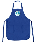 Deluxe World Peace Apron Blue