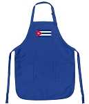 Deluxe Cuban Flag Apron Blue