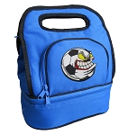 Soccer Fan Lunch Bag 2 Section Blue
