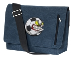 Soccer Fan Messenger Bags STYLISH WASHED COTTON CANVAS Blue