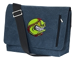 Softball Messenger Bags STYLISH WASHED COTTON CANVAS Blue