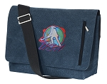 Field Hockey Messenger Bags STYLISH WASHED COTTON CANVAS Blue