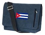 Cuba Messenger Bags STYLISH WASHED COTTON CANVAS Blue