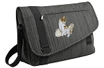 Cute Cats Messenger Laptop Bag Stylish Charcoal