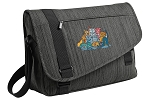 Crazy Cat Messenger Laptop Bag Stylish Charcoal