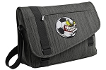 Soccer Fan Messenger Laptop Bag Stylish Charcoal