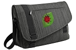 Ladybug Messenger Laptop Bag Stylish Charcoal
