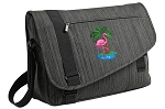 Flamingo Messenger Laptop Bag Stylish Charcoal