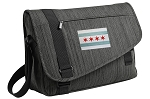 Chicago Flag Messenger Laptop Bag Stylish Charcoal