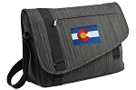 Colorado Messenger Laptop Bag Stylish Charcoal