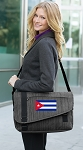 Cuba Messenger Laptop Bag Stylish Charcoal