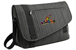 Peace Frogs Messenger Laptop Bag Stylish Charcoal