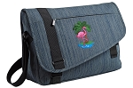 Flamingo Messenger Laptop Bag Stylish Navy