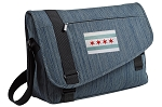 Chicago Flag Messenger Laptop Bag Stylish Navy