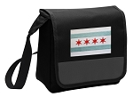 Chicago Flag Lunch Bag Cooler Black