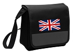 England British Flag Lunch Bag Cooler Black