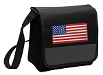 American Flag Lunch Bag Cooler Black
