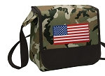 American Flag Lunch Bag Cooler Camo