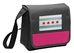 Chicago Flag Lunch Bag Cooler Pink