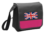 England British Flag Lunch Bag Cooler Pink