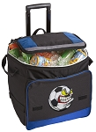 Soccer Fan Rolling Cooler Bag Blue