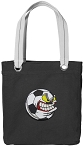 Soccer Fan Tote Bag RICH COTTON CANVAS Black