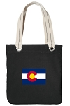 Colorado Tote Bag RICH COTTON CANVAS Black