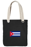 Cuba Tote Bag RICH COTTON CANVAS Black