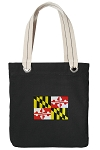 Maryland Tote Bag RICH COTTON CANVAS Black