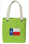 Texas Flag Tote Bag RICH COTTON CANVAS Green