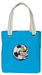 Soccer Fan Tote Bag RICH COTTON CANVAS Turquoise
