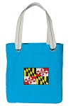 Maryland Tote Bag RICH COTTON CANVAS Turquoise