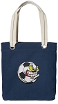 Soccer Fan Tote Bag RICH COTTON CANVAS Navy