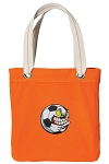 Soccer Fan Tote Bag RICH COTTON CANVAS Orange