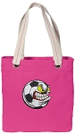 Soccer Fan Tote Bag RICH COTTON CANVAS Pink