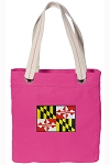 Maryland Tote Bag RICH COTTON CANVAS Pink