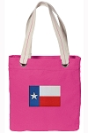Texas Flag Tote Bag RICH COTTON CANVAS Pink