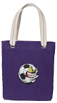 Soccer Fan Tote Bag RICH COTTON CANVAS Purple