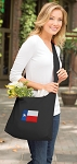 Texas Flag Tote Bag Sling Style Black